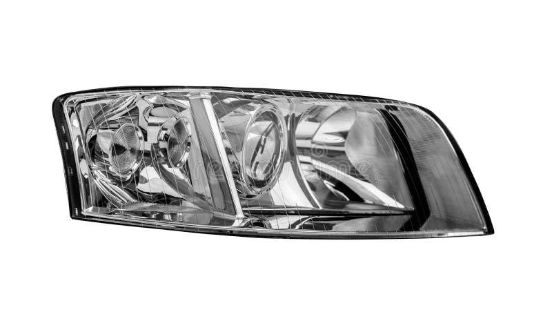 Autokoplamp op witte achtergrond wordt geïsoleerd die royalty-vrije stock afbeeldingen