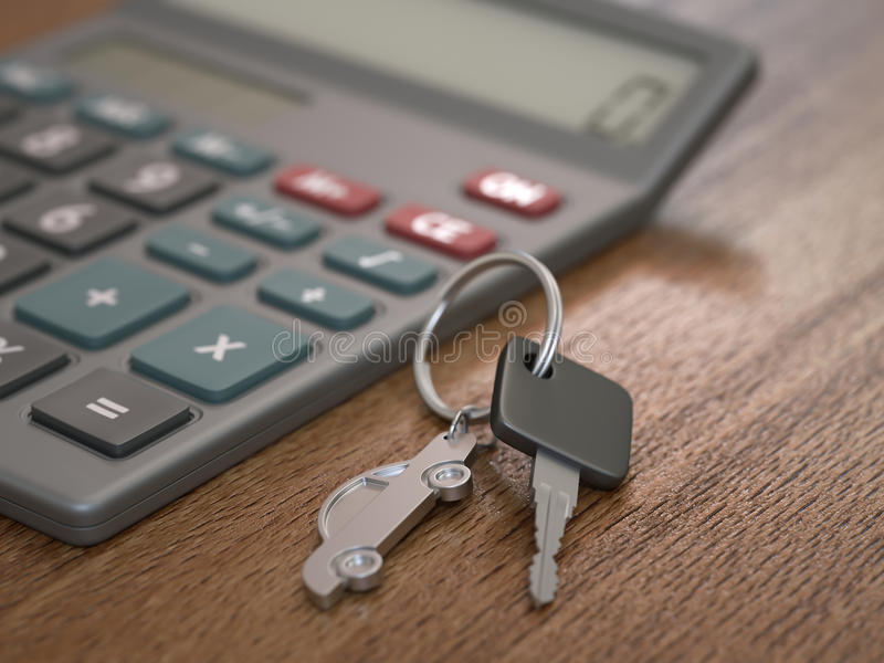 Autokredit-Berechnung stockbild
