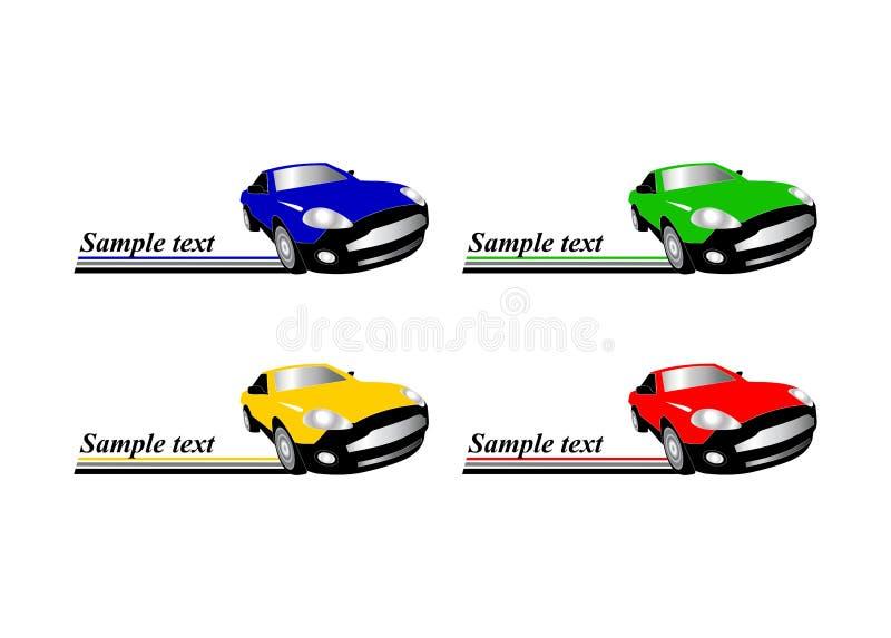 Autolaufenselbstzeichen stock abbildung