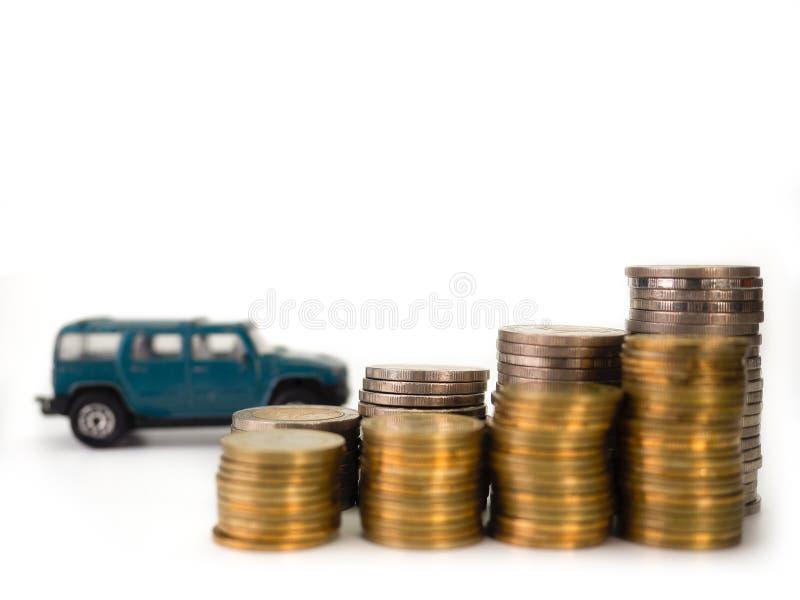Autolening, geld Selectieve nadruk stock afbeelding