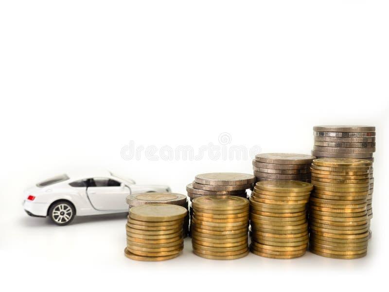 Autolening, geld Selectieve nadruk royalty-vrije stock afbeeldingen