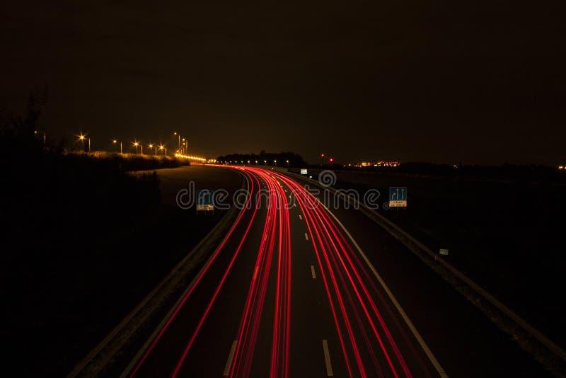 Autolichtspur lizenzfreies stockfoto