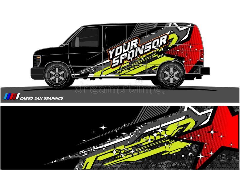 Autolivree Grafikvektor abstraktes laufendes Formdesign für Fahrzeugvinylverpackungshintergrund vektor abbildung
