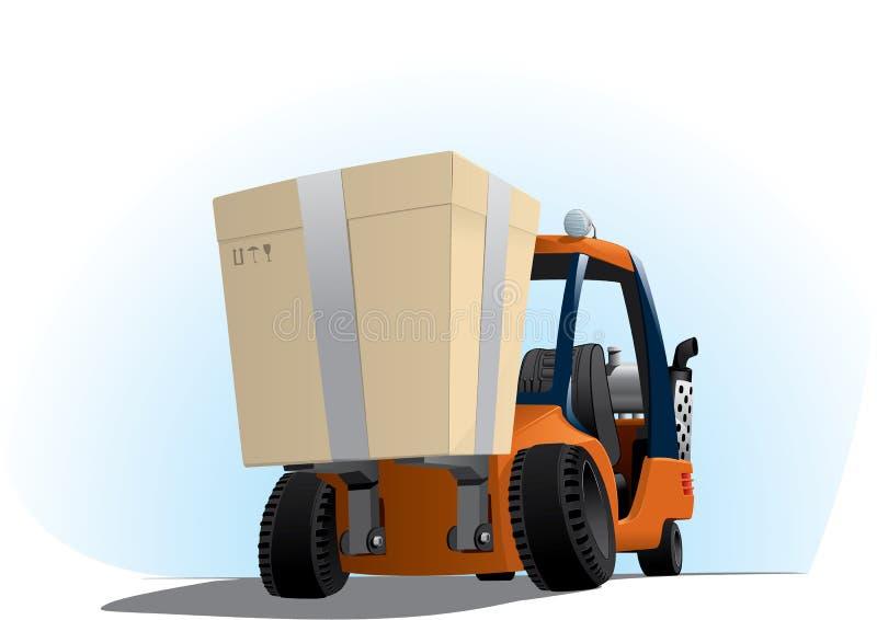 Autoloader con un rectángulo grande stock de ilustración