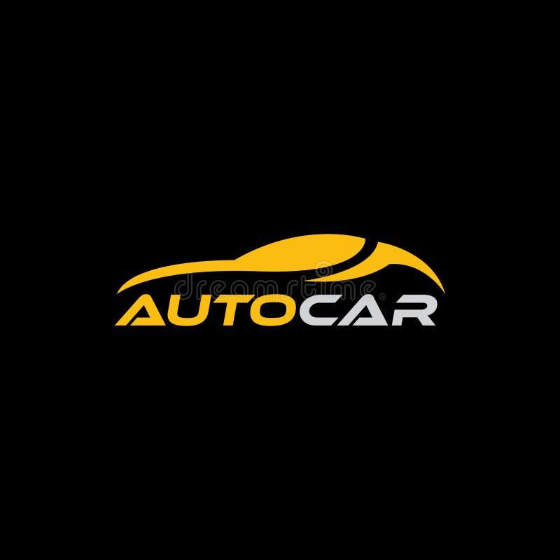 Autologo, abstraktes AutoKonzept des Entwurfes, Automobilautologo-Entwurfsschablone vektor abbildung