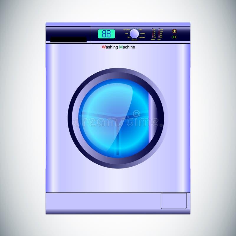 Automático realista de la lavadora aislado en fondo gris libre illustration