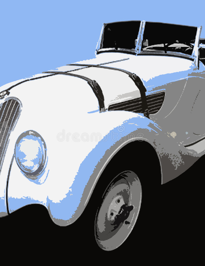 automóvel Blak-azul-branco dos tons fotos de stock
