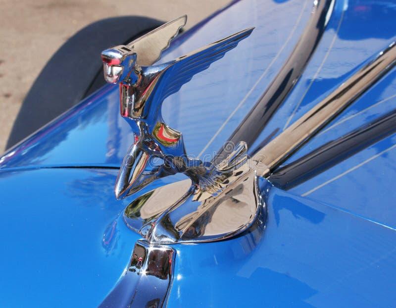 Automóvel clássico Hood Ornament de Chrome do art deco fotografia de stock