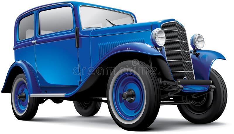 Automóvel compacto pré-guerra europeu ilustração royalty free