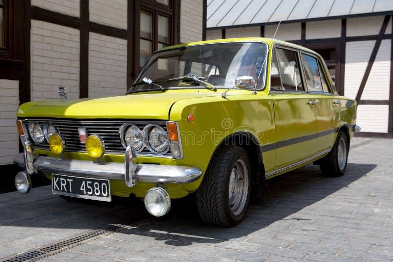 Automóvel de Fiat do vintage no museu de w do ³ de Krakà fotos de stock