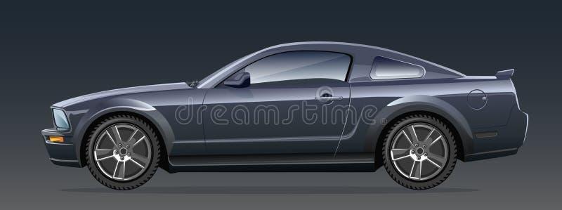 Automóvel preto ilustração royalty free