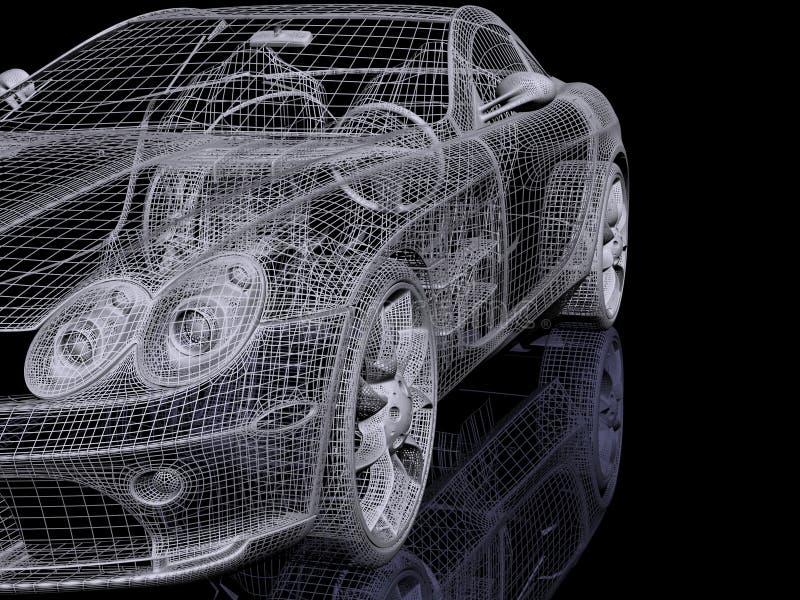 automóvil 3d stock de ilustración