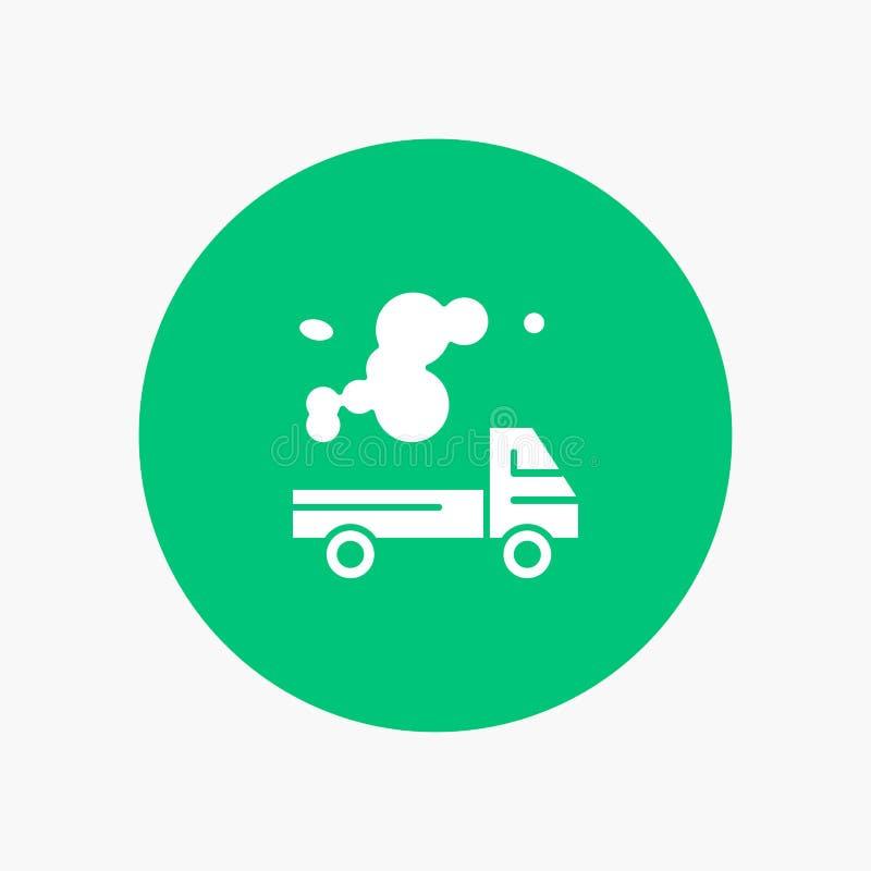 Automóvil, camión, emisión, gas, contaminación libre illustration