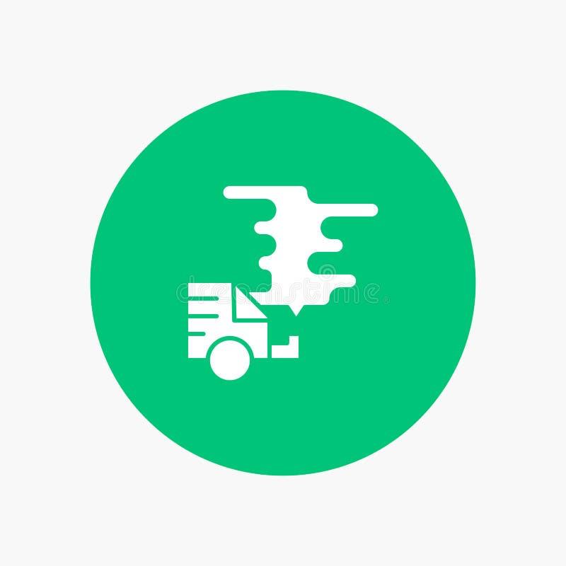 Automóvil, coche, emisión, gas, contaminación libre illustration
