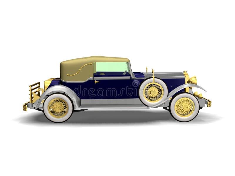 Automóvil de lujo de la vendimia stock de ilustración