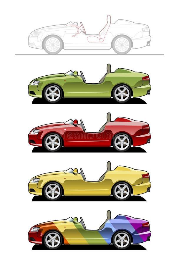 Automóvil descubierto ilustración del vector