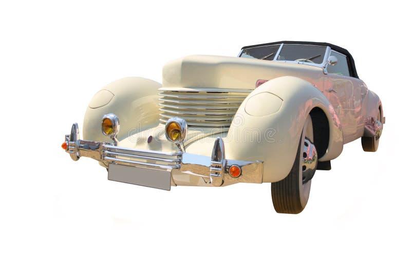 Automóvil descubierto aislado imagen de archivo libre de regalías