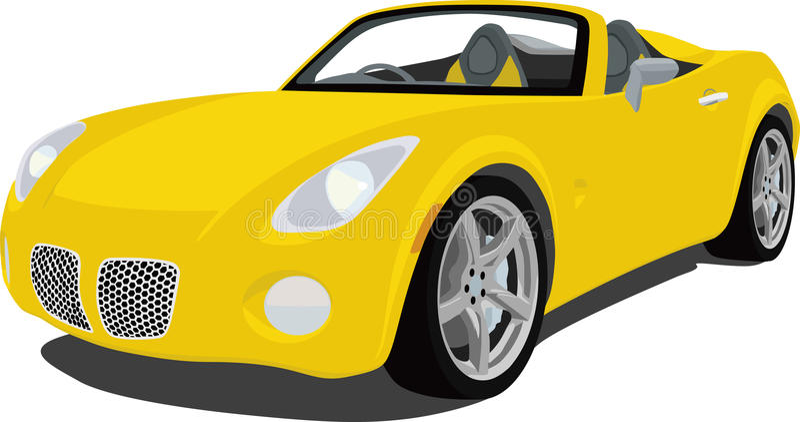Automóvil descubierto del solsticio de Pontiac ilustración del vector