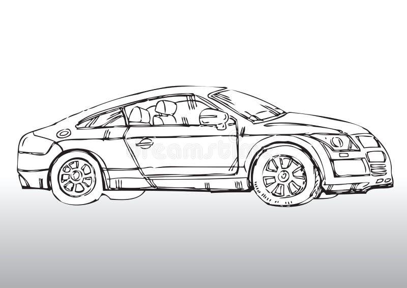 Automóvil drenado mano ilustración del vector