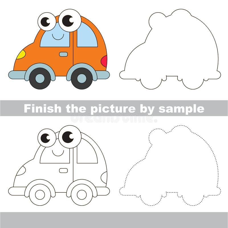 automóvil Hoja de trabajo del dibujo libre illustration