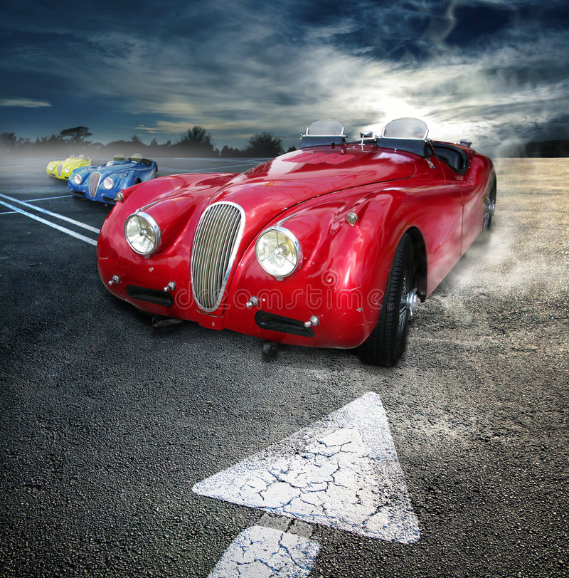 Automóviles descubiertos de la vendimia