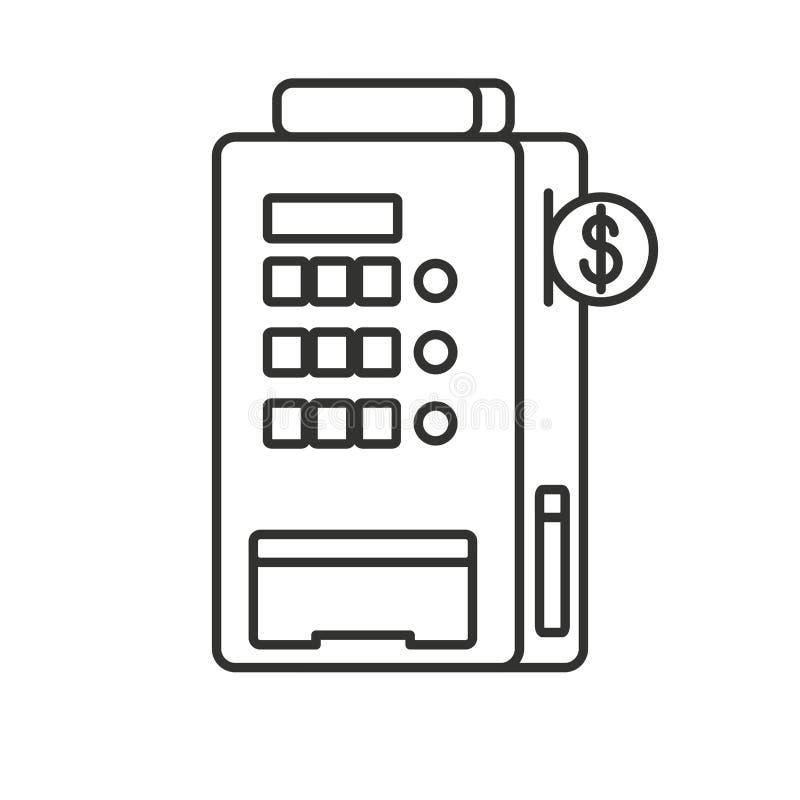 Automaat geïsoleerd pictogram royalty-vrije illustratie