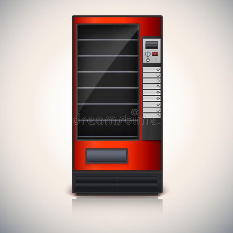 Automaat met planken, rode coloor vector illustratie