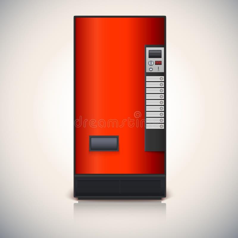 Automaat voor de verkoop van dranken. stock illustratie