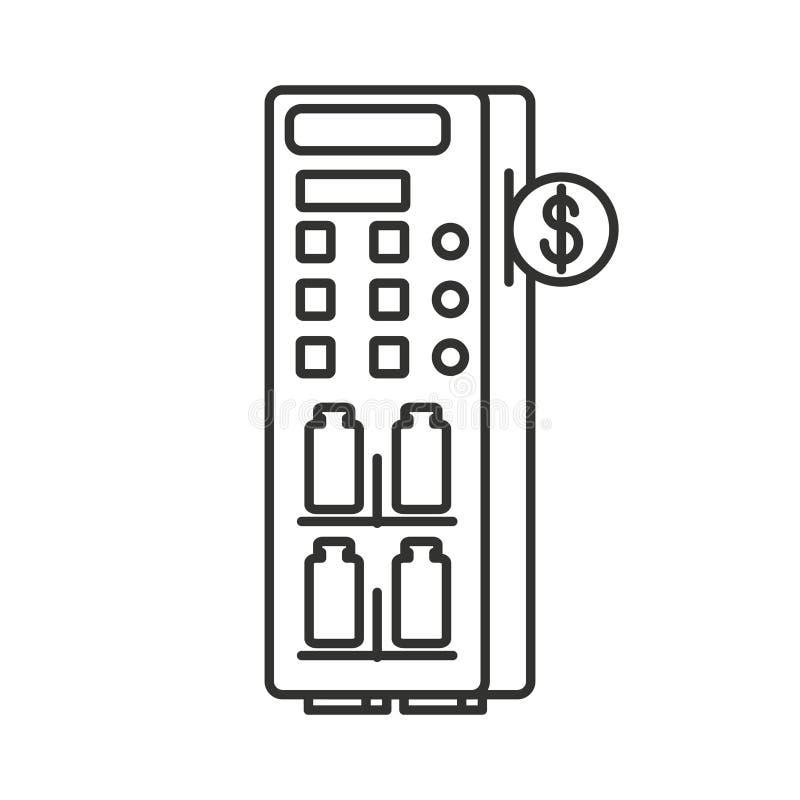 Automat der abgefüllten Getränke lokalisierten Ikone vektor abbildung