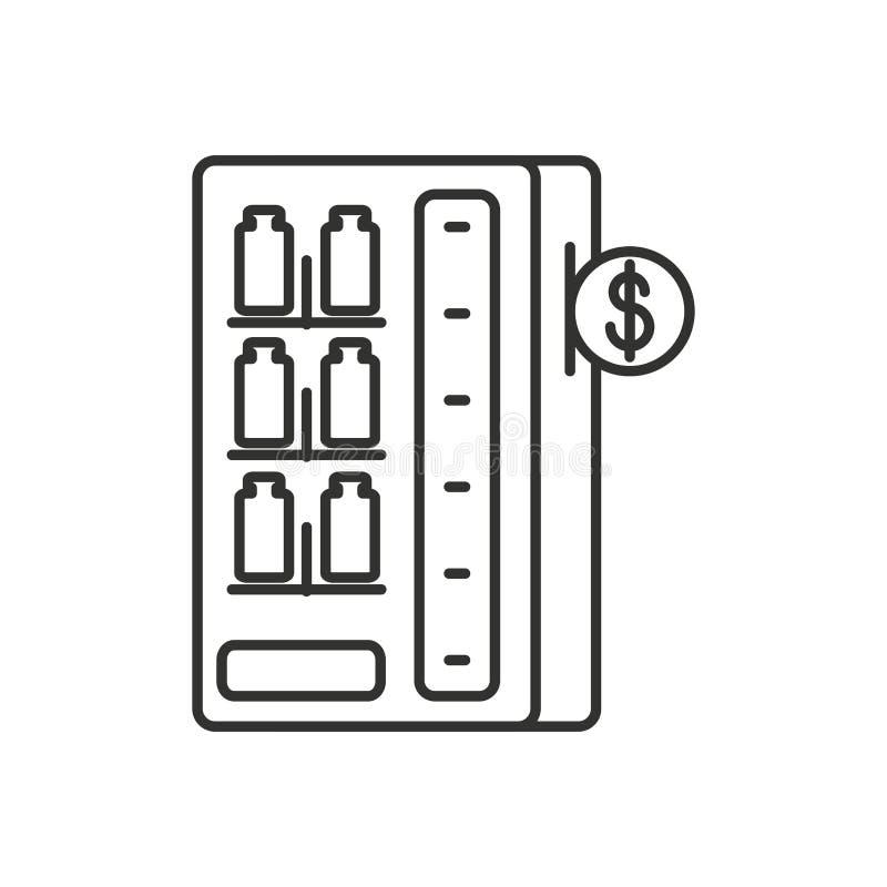 Automat der abgefüllten Getränke lokalisierten Ikone lizenzfreie abbildung
