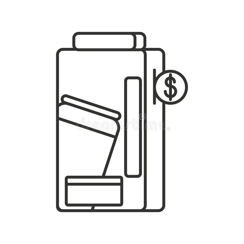 Automat der eingemachten Getränk lokalisierten Ikone lizenzfreie abbildung