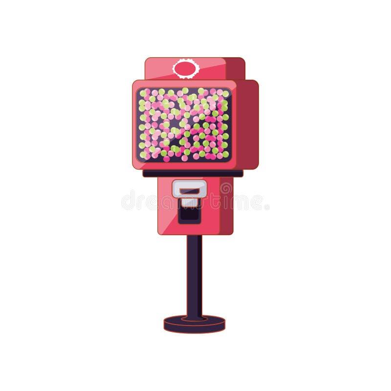 Automat der Süßigkeiten lokalisierten Ikone stock abbildung
