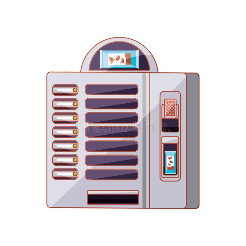 Automat der Süßigkeitsschokolade stock abbildung