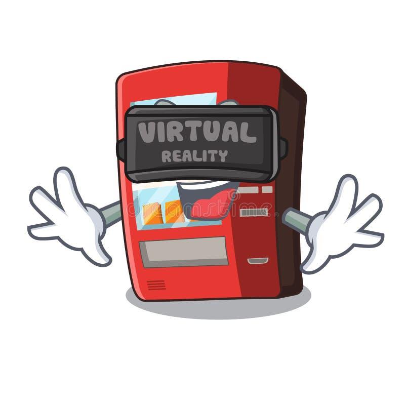 Automat der virtuellen Realit?t nahe bei Charaktert?r vektor abbildung