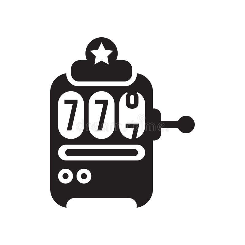 Automat do gier ikony wektoru znak i symbol odizolowywający na białym backg royalty ilustracja