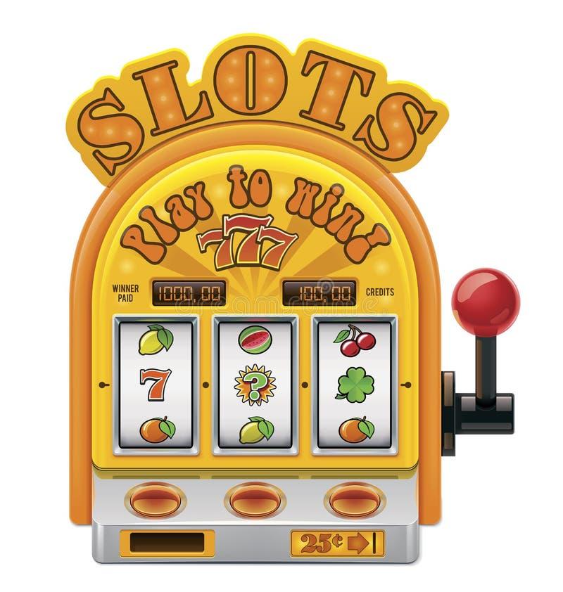 Automat do gier wektorowa ikona ilustracji