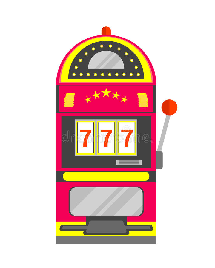 Automat Do Gier z Jeden ręki Uprawiać hazard wektor royalty ilustracja