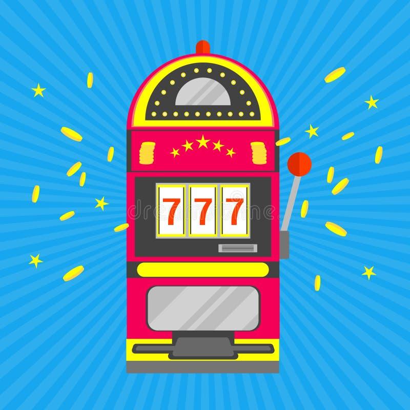 Automat Do Gier z Jeden ręki Uprawiać hazard wektor ilustracji