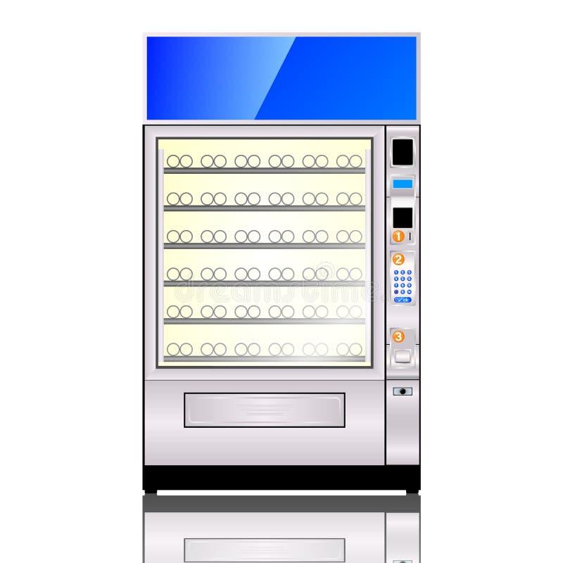 Automat lokalisiert auf weißem Hintergrund vektor abbildung