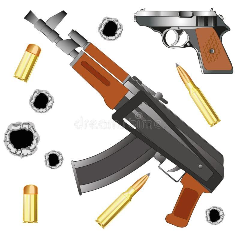 Automat und Gewehr stock abbildung