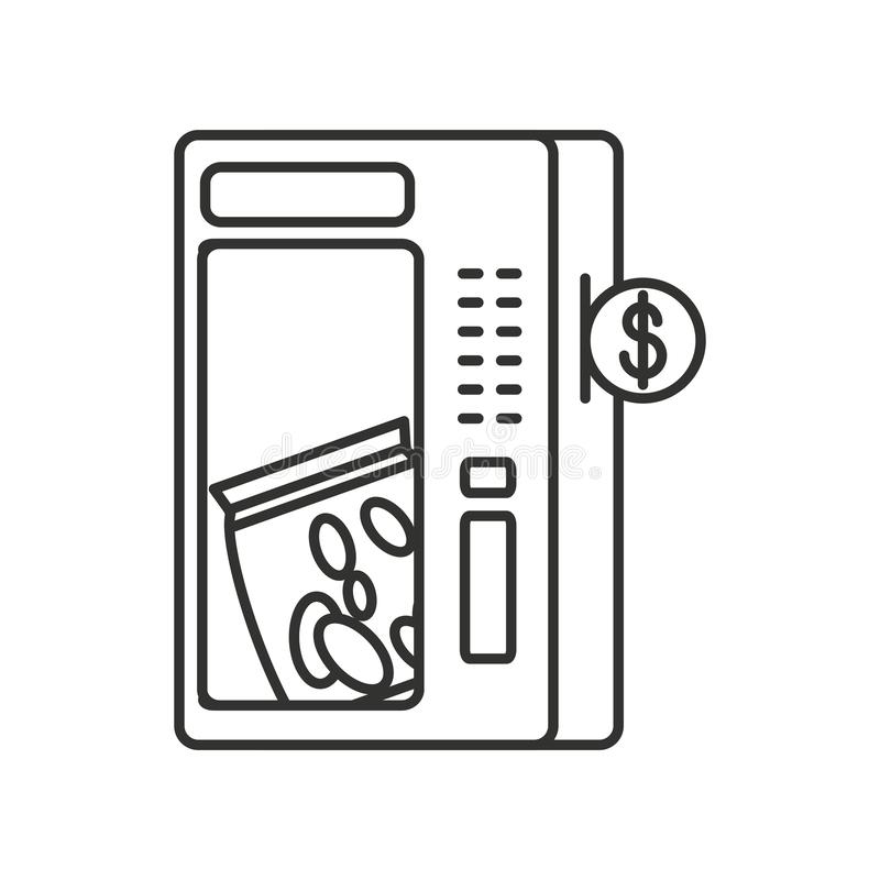 Automat von Kartoffelchips stock abbildung