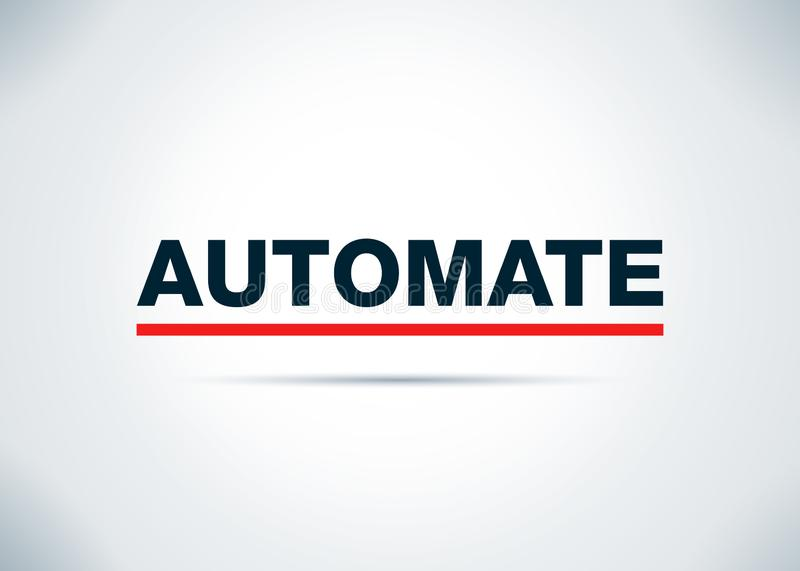 Automate Abstract Flat Background Design Illustration royalty free illustration
