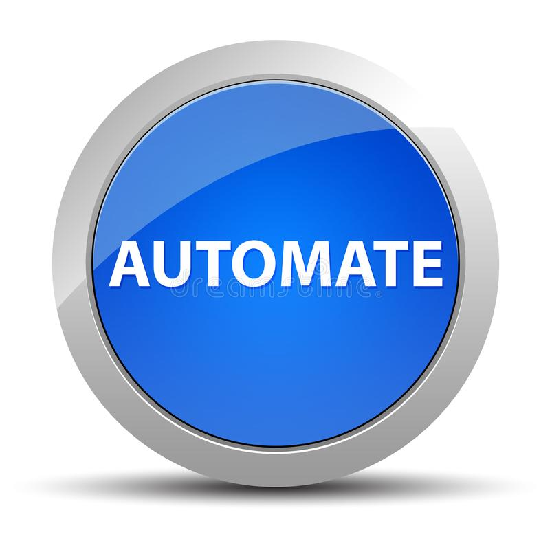 Automate blue round button vector illustration