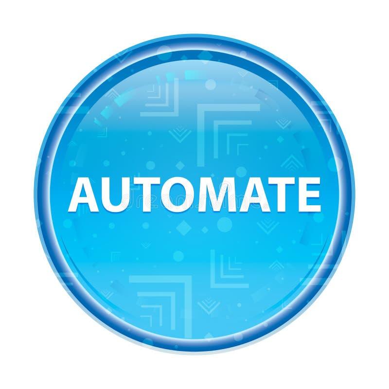 Automate floral blue round button. Automate Isolated on floral blue round button royalty free illustration