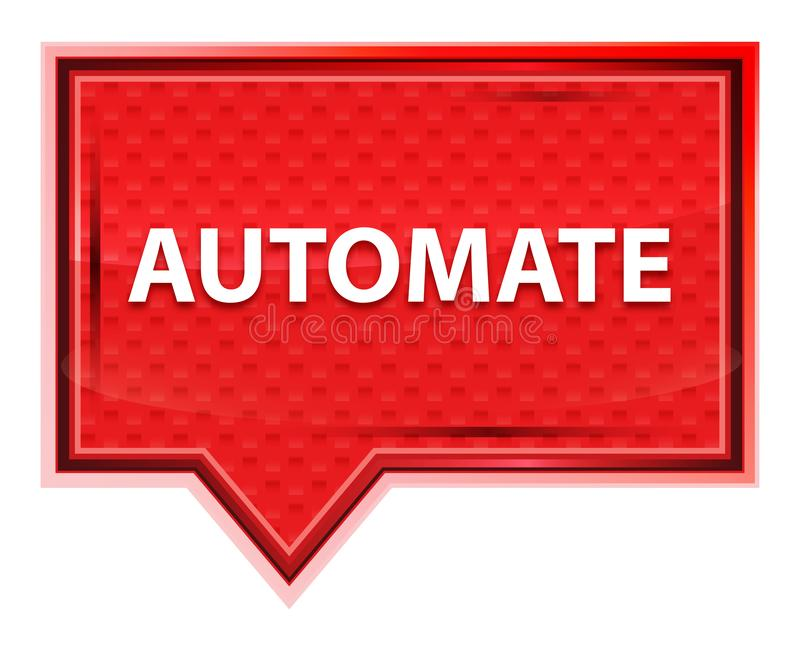 Automate misty rose pink banner button. Automate Isolated on misty rose pink banner button royalty free illustration