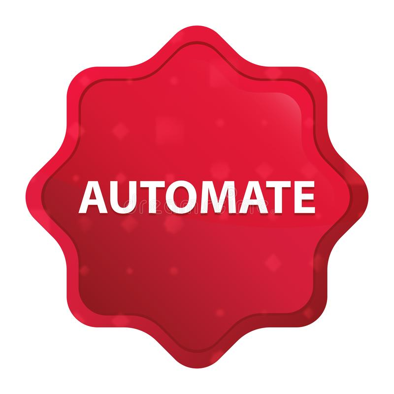 Automate misty rose red starburst sticker button stock illustration