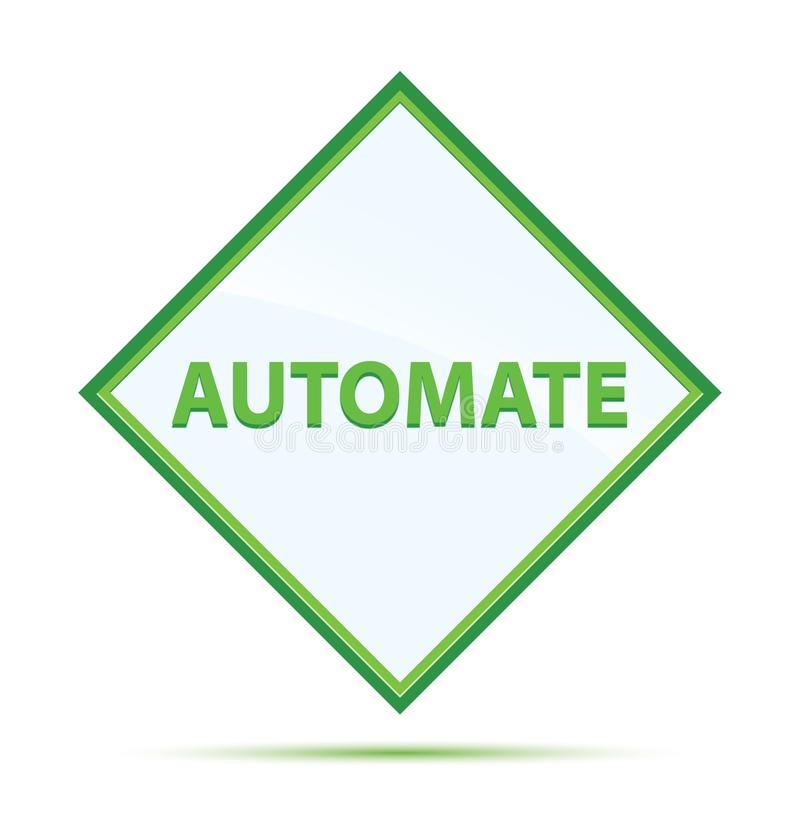 Automate modern abstract green diamond button. Automate Isolated on modern abstract green diamond button royalty free illustration