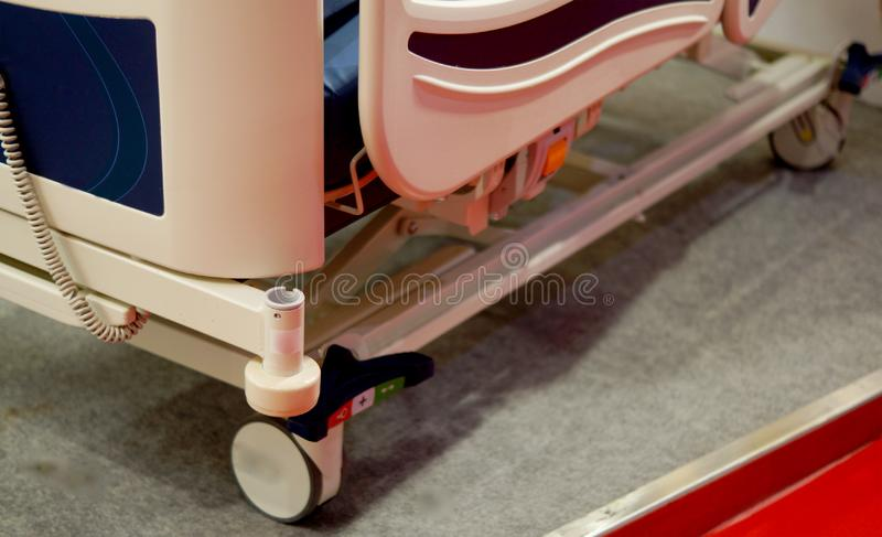 Automated bed in ward for  patient or use in a hospita royalty free stock images