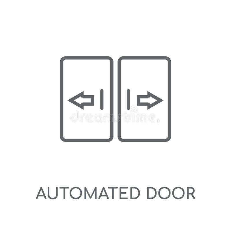 automated door linear icon. Modern outline automated door logo c royalty free illustration