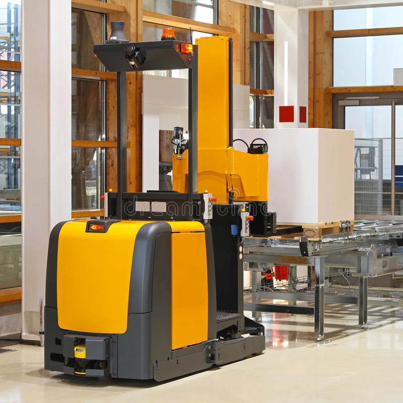 Download Automated forklift stock image. Image of industrial, warehouse - 28307997